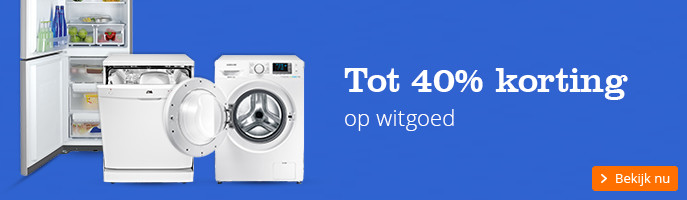 Tot 40% korting op witgoed