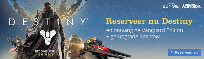 Reserveer nu Destiny | en ontvang de Vanguard Edition + ge-upgrade Sparrow