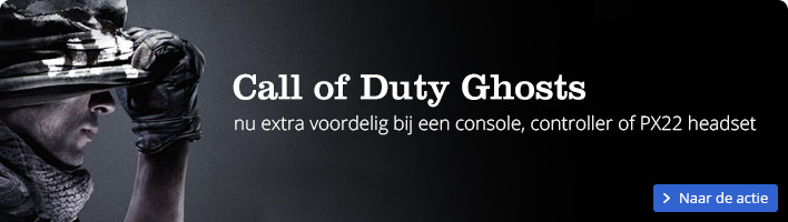 Call of Duty Ghosts | nu extra voordelig bij een console, controller of PX22 headset