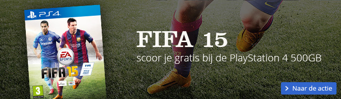 FIFA 15 scoor je gratis bij een PlayStation 4 500GB