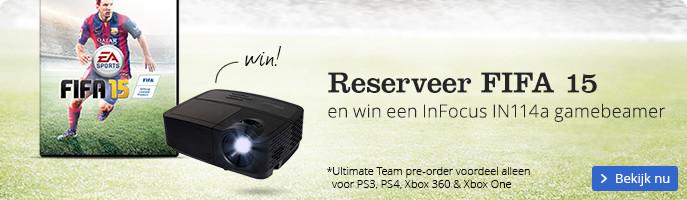 Reserveer FIFA 15 en win een InFocus IN114a gamebeamer