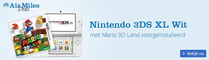 Nintendo 3DS XL Wit + Mario 3D Land voorgeinstalleerd