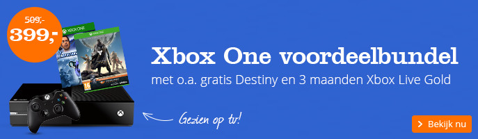 Xbox One voordeelbundel | met o.a. gratis Destiny en 3 maanden  Xbox Live Gold