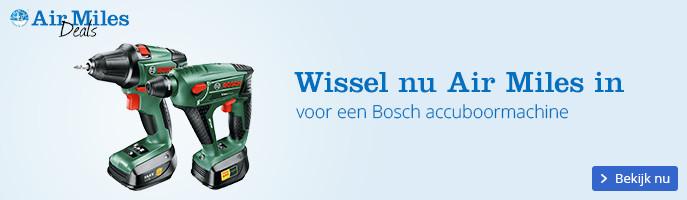 Air Miles Inwisselweken, wissel nu in voor een Bosch accuboormachine