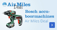 Bosch accuboormachines, Air Miles Deal