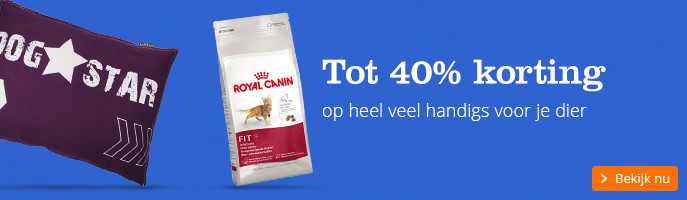 Tot 40% korting op heel veel handigs voor je dier
