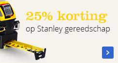 25% korting op Stanley gereedschap