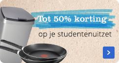 Tot 50% korting op je studentenuitzet