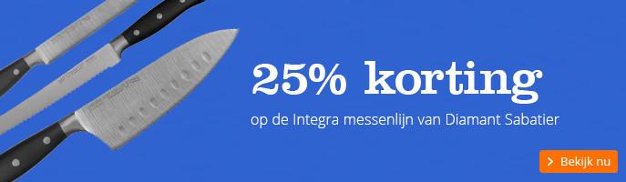 25% korting | op de Integra messenlijn van Diamant Sabatier