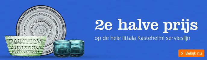 2e halve prijs | op de hele Iittala Kastehelmi servieslijn