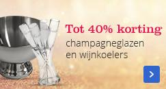 Tot 40% korting | champagneglazen en wijnkoelers