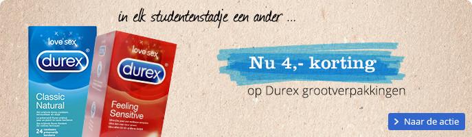 4 euro korting op Durex grootverpakking