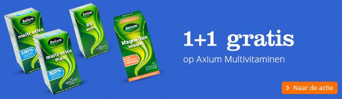 1+1 gratis op Axium Multivitaminen