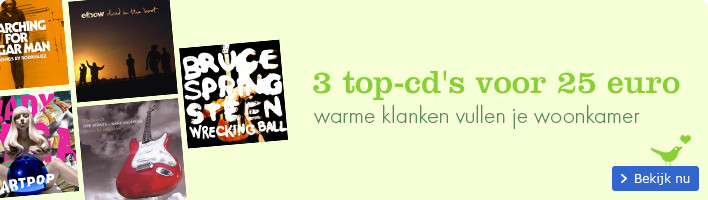 3 top cd's voor 25 euro