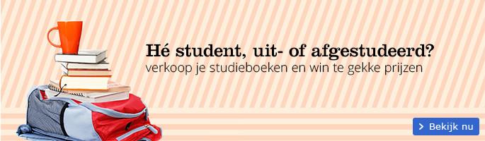 Hé student, uit- of afgestudeerd? verkoop je studieboeken en win te gekke prijzen