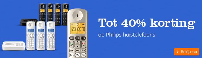 tot 40% korting | op Philips huistelefoons