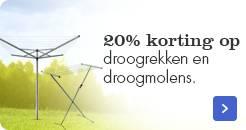 20 procent korting op diverse droogrekken