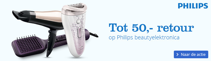Tot 50,- retour | op Philips beautyelektronica