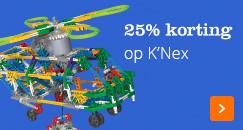 25% korting op K'Nex constructiespeelgoed