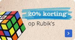 20% korting op Rubik's