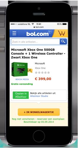 De mobiele website van bol.com
