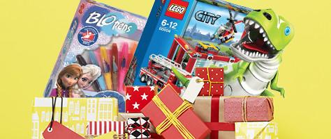 4+1 gratis op zakken vol speelgoed