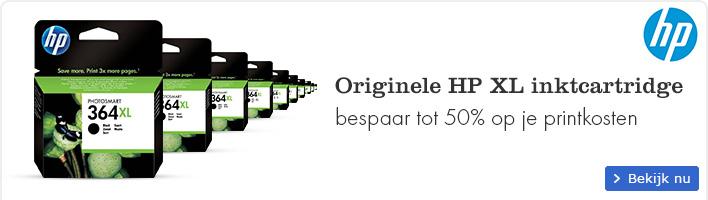 Originele HP XL inktcartridge, bespaar tot 50% op je printkosten