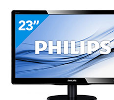 Philips 236V4LSB 23 inch Full HD LED-Monitor
