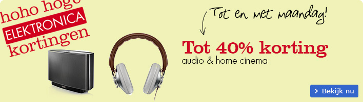 Audio & home cinema tot 40% korting