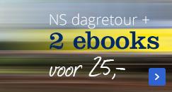 nu een NS dagretour + 2 ebooks voor maar 25,-