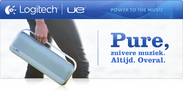 Pure, zuivere muziek. Power to the music - Logitech UE