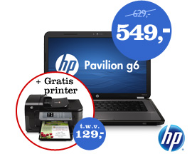 HP Pavilion g6-1350sd laptop+ gratis printer