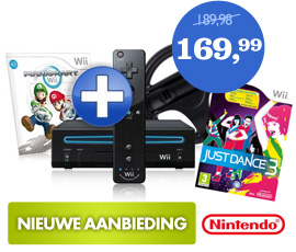 Wii Mario Kart & Just Dance 3 bundel
