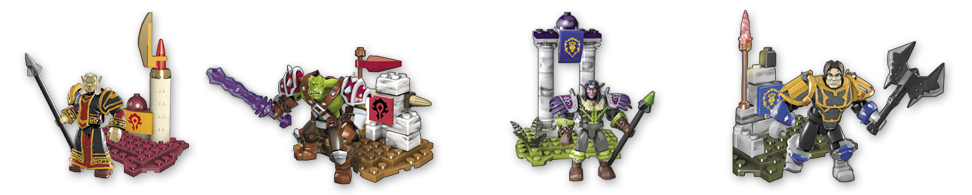 World of Warcraft Megabloks characters