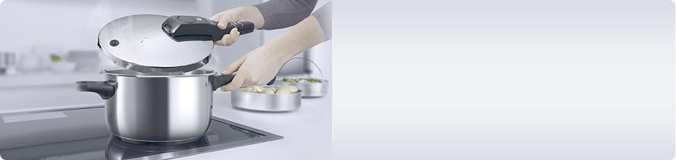 Koken met de snelkookpan