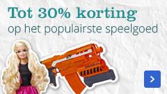 Tot 30 procent korting op het populairste speelgoed