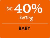 40% korting op baby