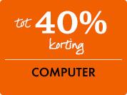40% korting op computer