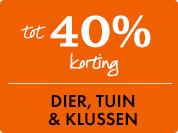 40% korting op Dier, Tuin & Klussen