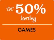 50% korting op games