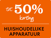 40% korting op huishoudelijke apparatuur