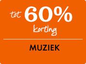 60% korting op muziek