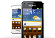 Samsung Galaxy S Advance - Wit/zwart
