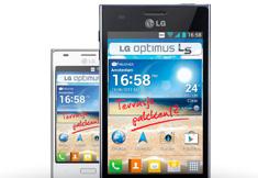LG Optimus L5 - Zwart/Wit Voorzien van Android 4.0.