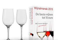 Leonardo Ciao+ Witte- & Rode Wijnglazenset (2 × Set van 6) + Gratis Wijnalmanak 2013