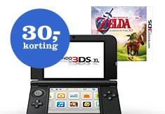 3DS XL + oplader + game naar keuze