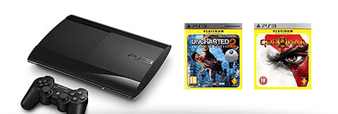 PlayStation 3 12GB Super Slim + 2 gratis top games!